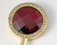 Bling Red Crystal 12 Handbag Hook