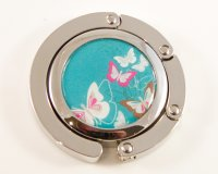 Butterflies on Blue Foldable Handbag Hook