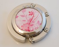 Lilies on White Compact Foldable Handbag Hook