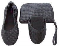 Tipsyfeet Black Weave Foldable Shoe