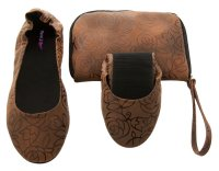 Tipsyfeet Brown Foldable Shoe