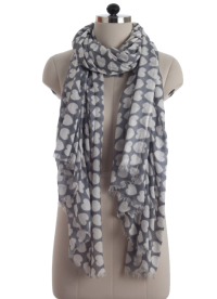 Elsa Hearts on Light Grey Fashion Scarf