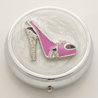 3D Pink Shoe Pill Box