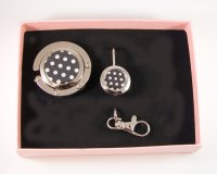 Foldable Black & White Polka Dot Gift Set