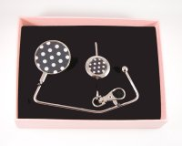 Plain Black & White Polka Dot Gift Set