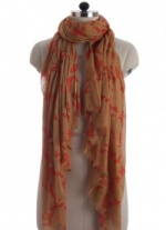 Elsa Rustic Orange Fashion Scarf