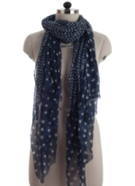Elsa Stars on Navy Fashion Scarf