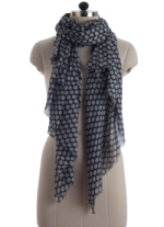 Elsa Grey Polka Dot Fashion Scarf