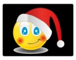 Sticky 'N Grippy Smiley Santa Screen Cleaner