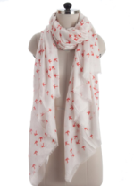 Elsa Red Swallows Fashion Scarf