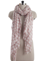 Elsa Hearts on Soft Rose Fashion Scarf